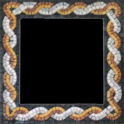 Orange & White Entangled Mirror Border