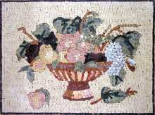 Fruit Bowl Still Life Kitchen Backsplash Mosaic