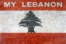 GEO483 Lebanon Flag reproduction Mosaic