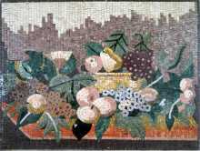 Fruit & Flowers Still Life Kitchen Backsplash Mosaic