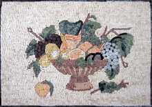 Fruit Bowl Rectangular Kitchen Backsplash Mosaic