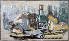 Cheese & Wine Rectangular Kitchen Backsplash Mosaic
