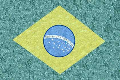 GEO564 Brazil Flag reproduction Mosaic
