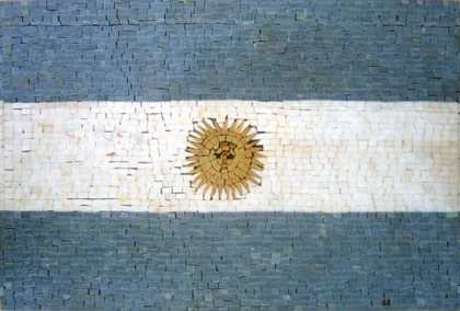 GEO655 Argentina Flag reproduction Mosaic