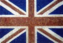 GEO657 United Kingdom Flag mosaic reproduction