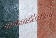GEO757 Italy Flag mosaic reproduction