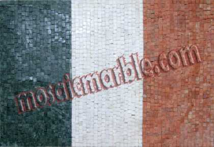 GEO757 Italy Flag reproduction Mosaic