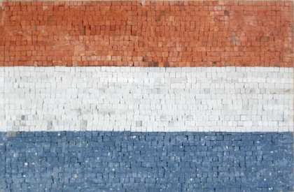 GEO783 Luxembourg Flag mosaic reproduction