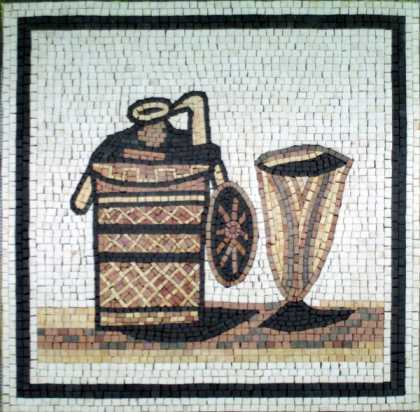 Jug & Cup Square Kitchen Backsplash Mosaic