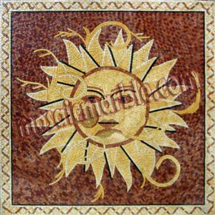 GEO858 Gold And Alicante Sun Mosaic