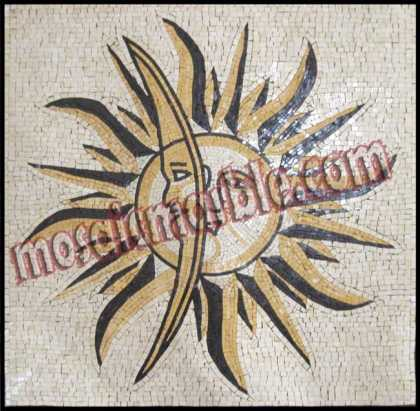 GEO935 The Square Sun and Moon Mosaic