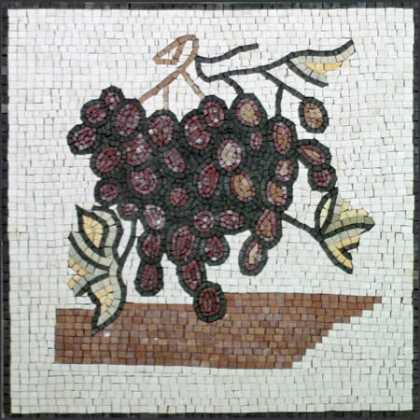 Large Grapes Square Kitchen Backsplash Mosaic