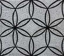 Interlocking Circles Flower Pattern Mosaic Floor Wall
