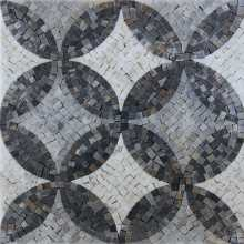 Greyscale Circles Mosaic Wall or Floor Tile