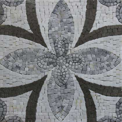 HF131 Repetitive Floral Pattern Tile  Mosaic