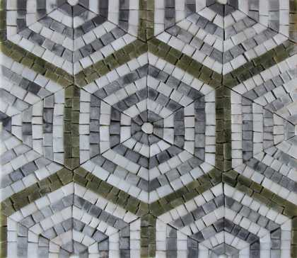 HF132 Repetitive Hexagon Pattern Tile  Mosaic
