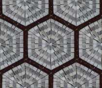 HF134 Repetitive Hexagon Pattern Tile  Mosaic