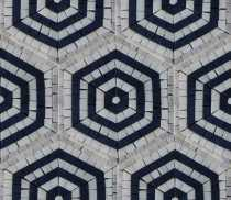 Repetitive Hexagon Mosaic Wall Tile