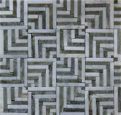 Floor Tile 3D Squares Illusion Mosaic