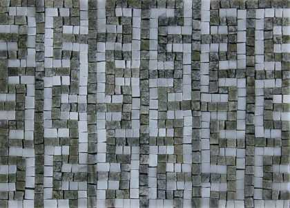 Cross Tee Olive and Grey Mosaic