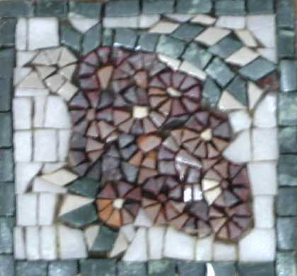 Large Purple Grapes Square Backsplash Mosaic