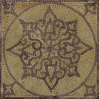 IN485 Floral Motif Geometrical Insert Mosaic