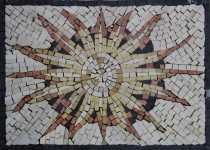 IN659 Cute Sun Mural  Mosaic