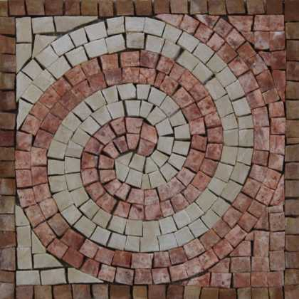 IN690 Mini Decor Accent Wave Life Spiral Moving  Mosaic