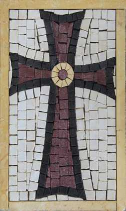 IN702 Mini Souvenir Cross Religious Handmade  Mosaic