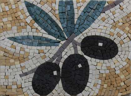 IN710 Black Olives Kitchen Art Mini Insert  Mosaic