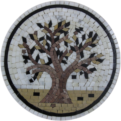Olive Tree Gorgeous Round Kitchen Art Mosaic