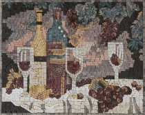 Kitchen Backsplash Romantic Wine Night  Mosaic