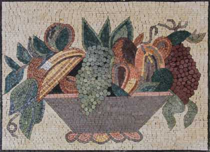Still Life Backsplash Kitchen Wall Mural  Mosaic