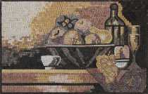 Artistic Still Life Fruit Bowl Backsplash Mosaic