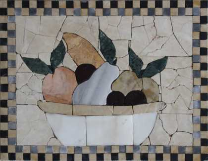 Fruit Basket Crazy Cut Kitchen Backsplash  Mosaic