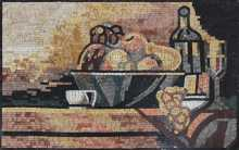Fruit Basket and Wine Kitchen Backsplash Mosaic