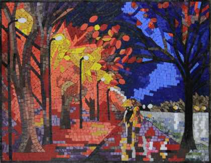 LS122 Vibrant Cozy Painting Recreation Mosaic