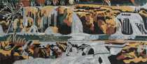 LS138 Horizontal Waterfall Landscape Nature  Mosaic