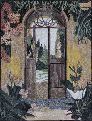 LS146 Exquisite Landscape Door Floral Home Wall  Mosaic