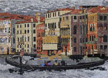 LS157 Beautiful Venice Gondola  Mosaic