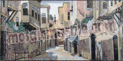 LS44 Typical old town alley scene Mosaic