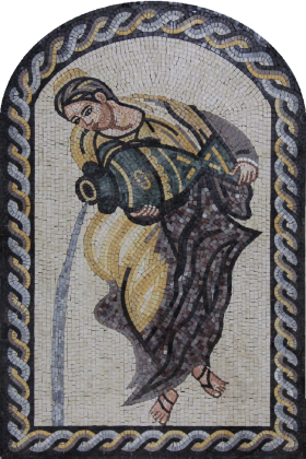 Lady with Urn Mosaic Wall Art