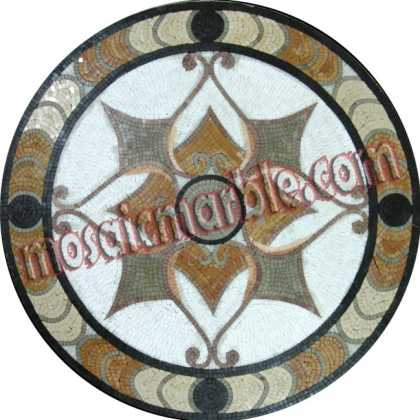 MD1016 Earth colors star shape Mosaic