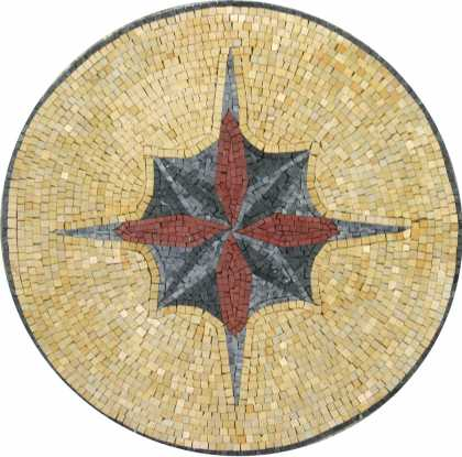MD1035 Central star design medallion Mosaic
