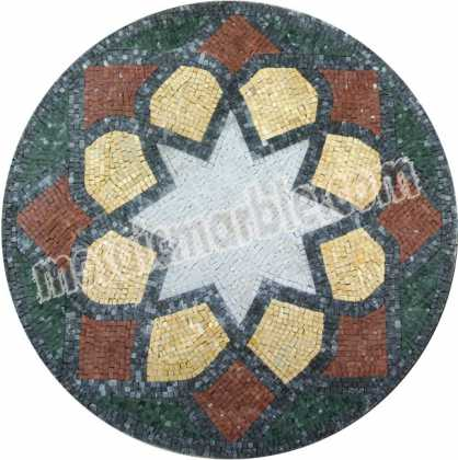 MD1041 Colorful star shape stone Mosaic