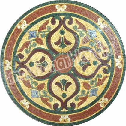MD1048 Antique style design medallion Mosaic