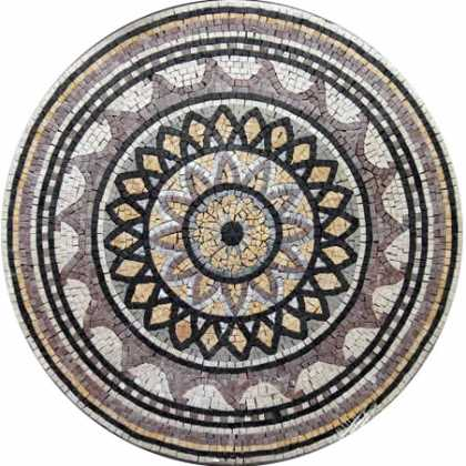 MD134 Flower art medallion Mosaic