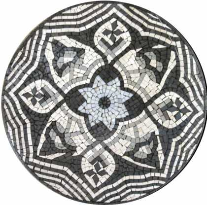 MD161 Black and white flower art Mosaic