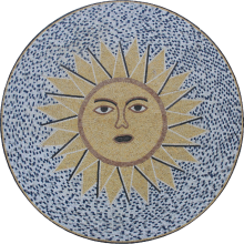 Large Sun Portrait Round Medallion