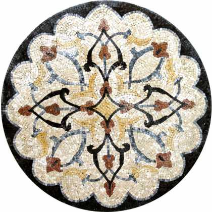 MD209 artistic floral design Mosaic